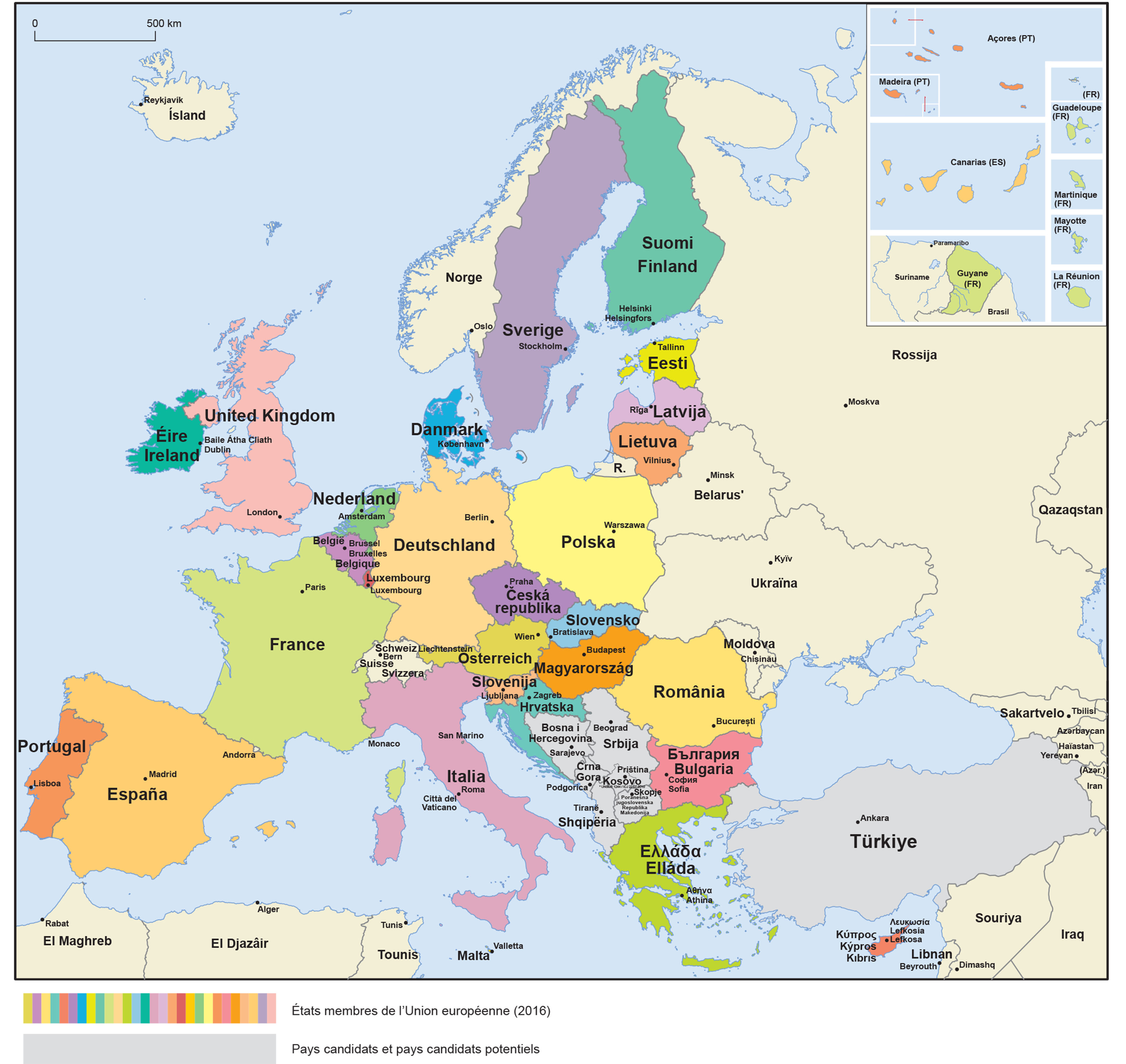 Mapa Union Europea 2017.A4 Master Centro Documentacion Europea Ufv