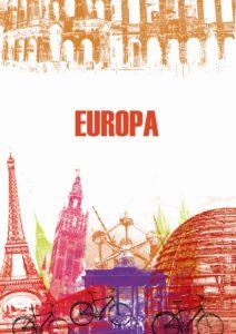 Poster expresando la diversidad de la Unión Europea