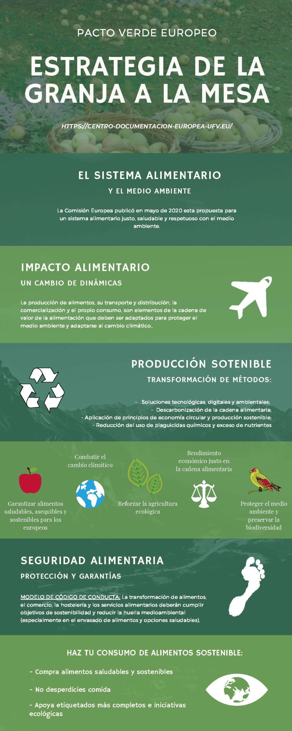 cartel con elementos clave de la estretegia de biodiversidad UE